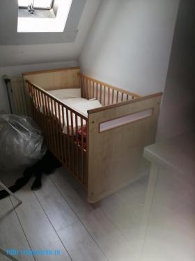 Комплект, кроватка, шкаф, тумбачка